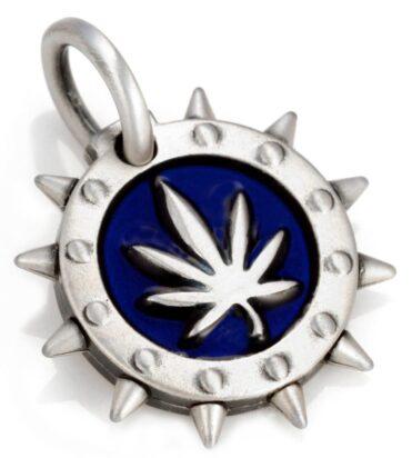 Woodstock - Bico Australia - men's silver resin pendant
