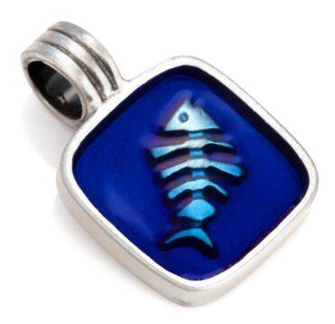 Pescare - Bico Australia - silver resin fish pendant