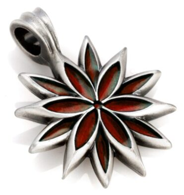 Lilac - Bico Australia - silver resin flower pendant