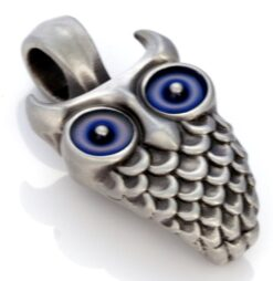 Owl - Bico Australia - metal resin pendant