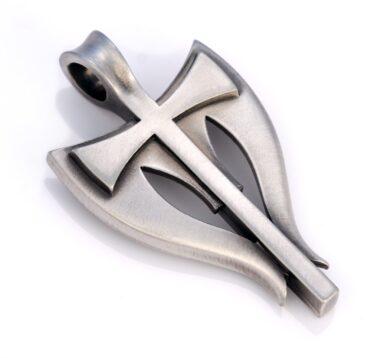 Gabriel - Bico Australia - mens silver cross pendant