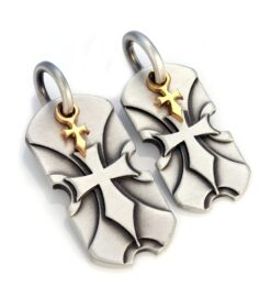 Sacred Shields - Bico Australia - couple's cross pendant pair