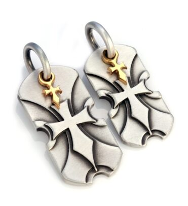 Sacred Shields - Bico Australia - couple's cross pendant pair
