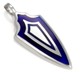 Triple Shield - Bico Australia - men's metal resin pendant