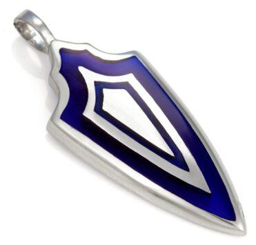 Triple Shield - Bico Australia - men's metal resin pendant