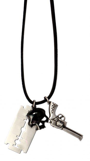 Officer Cut Skull - Bico Australia - men's street chain pendants