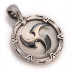 Tomoe - Bico Australia - two tone tribal spinning pendant