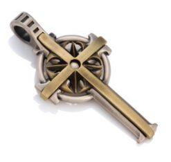 Crucifus - Bico Australia - mens two tone cross pendant