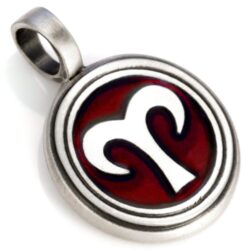 Aries - Bico Australia - mens zodiac aries resin pendant